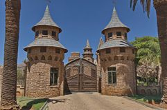 A main entrance of Chateau de Nates, South Africa Stock Photos