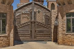 A main entrance of Chateau de Nates, South Africa. Chateau de Nates is located in Magalies region not far of Johannesburg, South Africa Royalty Free Stock Image