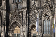 Main entrance of cologne cathedral Royalty Free Stock Image