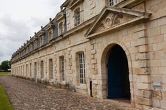 Main entrance of Corderie Royale in Rochefort. Front view  of the corderie royale historical monument in the city of Rochefort charente maritime region of France Royalty Free Stock Photos