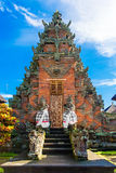 Main entrance of country temple in Bali,Indonesia. Royalty Free Stock Photos