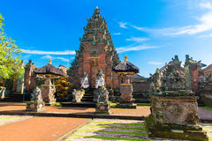 Main entrance of country temple in Bali,Indonesia. Stock Photography