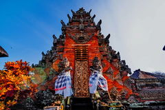 Main entrance of country temple in Bali Royalty Free Stock Photo