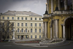 The main entrance in Croatian national theatre in Zagreb Royalty Free Stock Photos