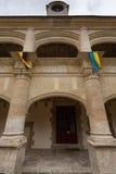 Main entrance of Dampierre-sur-Boutonne castle Stock Photo