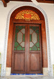 Main entrance door of Kampung Kling Mosque at Malacca, Malaysia Stock Image