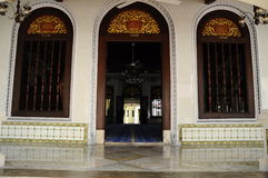 Main entrance door of Kampung Kling Mosque at Malacca, Malaysia Stock Photography