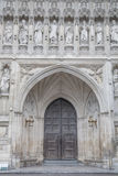 Main Entrance Door of Westminster Abbey, London Stock Images