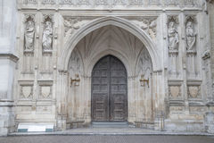 Main Entrance Door of Westminster Abbey, London Stock Photo
