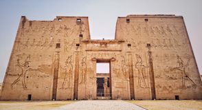The Edfu temple in Egypt royalty free stock photos