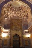 Main entrance foyer of Tilya Kori Madrasah Stock Photo