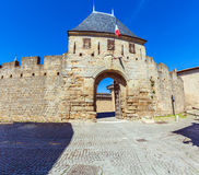 Main Entrance Gate in Carcassonne Royalty Free Stock Images