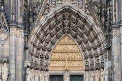 Main entrance gate of the Cologne Dome Catholic Church in Cologne Germany royalty free stock photography