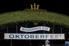 Main entrance gate to the Oktoberfest fairground in Munich, Germ Stock Photos