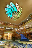 Main entrance hall in Disney cruise ship Stock Image