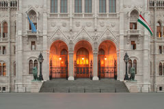 Main entrance of the Hungarian Parliament Stock Photo