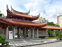 Lian Shan Shuang Lin Monastery, Singapore. Main entrance of Lian Shan Shuang Lin Monastery in Singapore. The centrally located monastery is one of the largest royalty free stock image