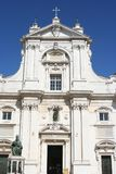 Main entrance of Loreto cathedral, Marche, italy Royalty Free Stock Images