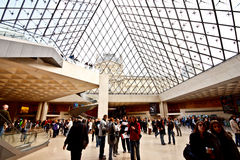 Main entrance of the Louvre Museum 3 Stock Images