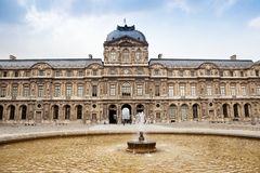 The main entrance of Louvre museum Stock Image