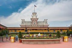 Main Entrance of Magic Kingdom of Disney Stock Photo