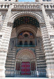 Main entrance in marseille Cathedral de la Major Stock Image