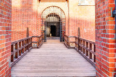 Main entrance into the medieval castle Royalty Free Stock Photography