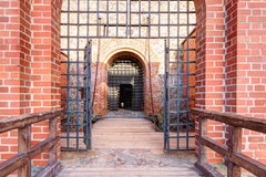 Main entrance into the medieval castle Royalty Free Stock Image