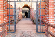 Main entrance into the medieval castle Royalty Free Stock Images