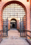 Main entrance into the medieval castle Royalty Free Stock Photos