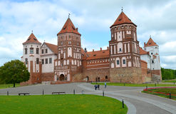 The main entrance of the Mir Castle, Belarus Royalty Free Stock Images