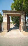 The main entrance in the monastery of St. George in Pomorie in Bulgaria Royalty Free Stock Image
