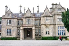 Main entrance at Muckross House, Killarney, Ireland. Muckross House, County Kerry, Ireland - a Tudor style mansion built in 1843 located on the small Muckross Royalty Free Stock Images