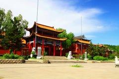 The Main Entrance of Mudanjiang Yuantong Temple. Mudanjiang Yuantong Temple is located at the foot of Jinlong Mountain of Mudanjiang city . it was founded in May Royalty Free Stock Images