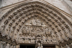 Main Entrance of Notre Dame de Paris - Portal of the Last Judgment Royalty Free Stock Images