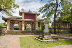 Main Entrance Of Thien Mu Pagoda In The Imperial City Of Hue Royalty Free Stock Images