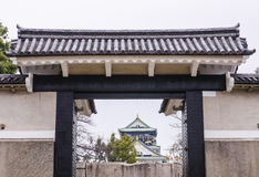 Main entrance at Osaka castle Royalty Free Stock Images