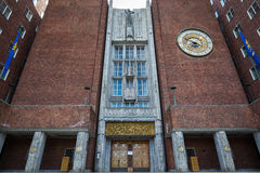 Main entrance of Oslo City Hall Royalty Free Stock Photography