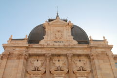 Main entrance of the Palace Hall of Cartagena, Spain. Facade of historic building Palace Hall of Cartagena, Spain Stock Photography