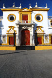 Main entrance of Plaza de Toros in Sevilla Royalty Free Stock Images