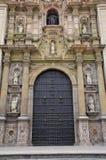 Main entrance Portada del Perdon of Lima Cathedral in Peru. Main entrance Portada del Perdon (Door of forgiveness) of Lima Cathedral in Peru. Construction of Royalty Free Stock Images