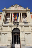 Main entrance in the Provincial Council of Ciudad Real, Spain. The building where is located the Provincial Council, Deputation of Ciudad Real, Castilla la Royalty Free Stock Images