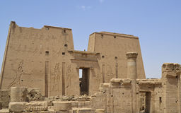 Main entrance pylon at Edfu Temple Royalty Free Stock Photography