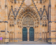 Main entrance of Saint Vitus Cathedral in Prague Stock Images