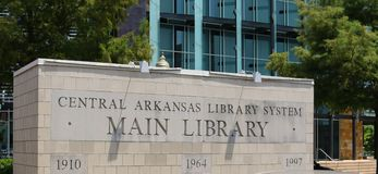 Main Entrance Sign at the Arkansas Studies Institute Sign Royalty Free Stock Photography