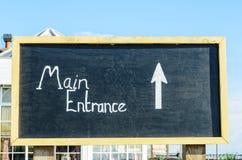 Main entrance sign Royalty Free Stock Photo