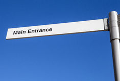 Main Entrance Sign Royalty Free Stock Photo