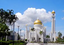 The main entrance of SOAS Mosque, Brunei Stock Image
