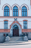 Main entrance with steps, with windows Royalty Free Stock Photo