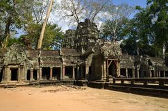 Main entrance of the temple Ta Phrom Royalty Free Stock Image